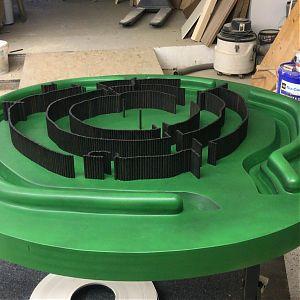 Model einer Kreisgrabenanlage